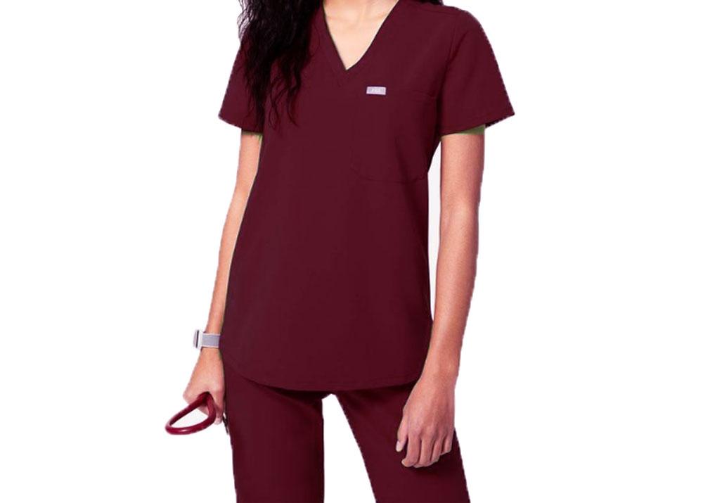 FIGS Women/'s Catarina One Pocket Scrub Top $38 NEW