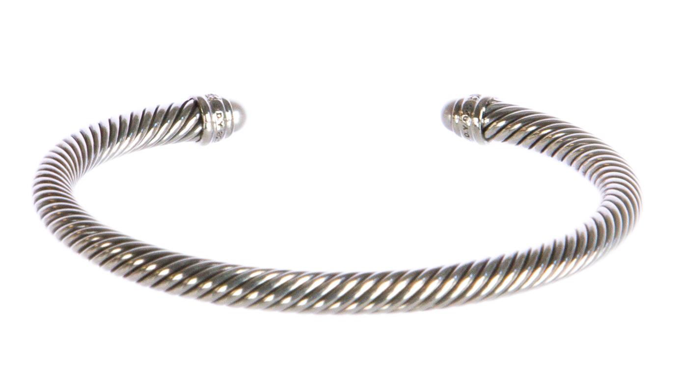 David Yurman Sterling Silver Cable Classics Bracelet 5mm Pearl Ebay