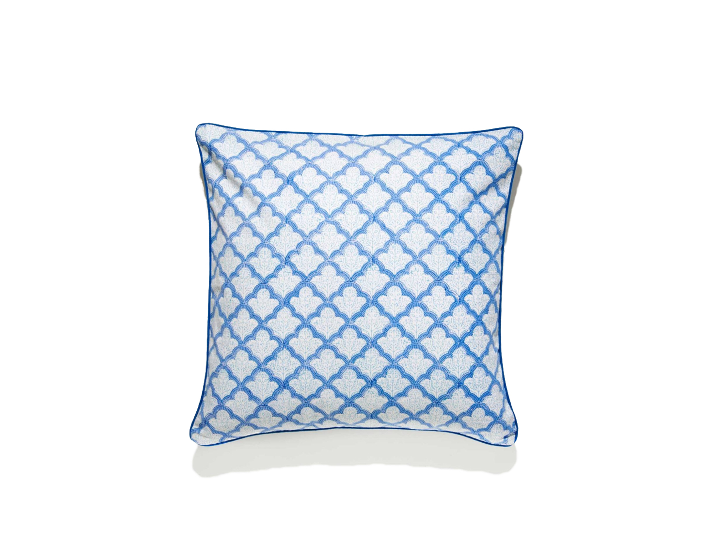 Details about ROBERTA ROLLER RABBIT Blue Jemina Decorative Pillow Cover 22  x 22 $60 NEW