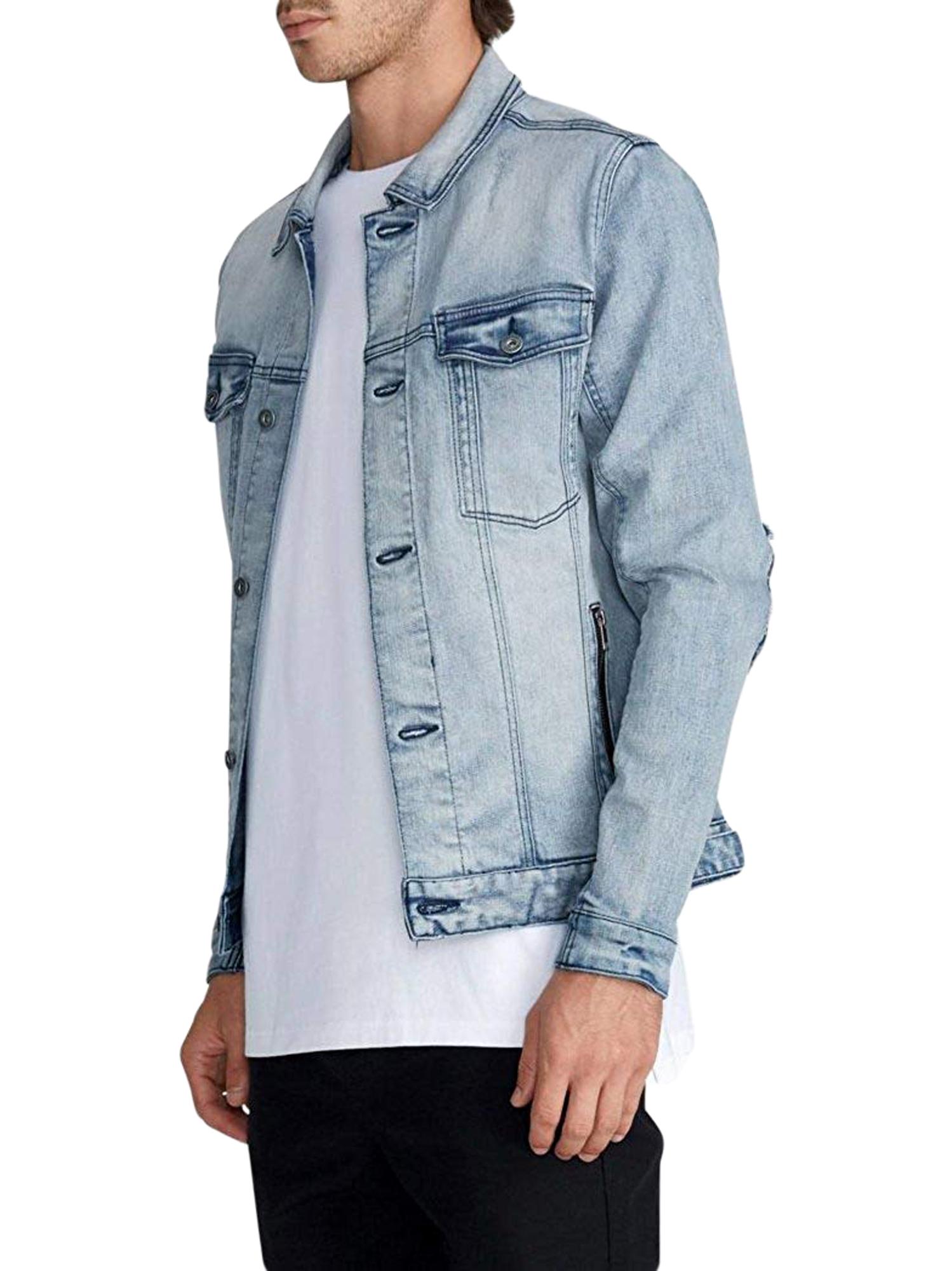 Zanerobe Men S Busted Blue Thrash Greaser Denim Jacket Sz